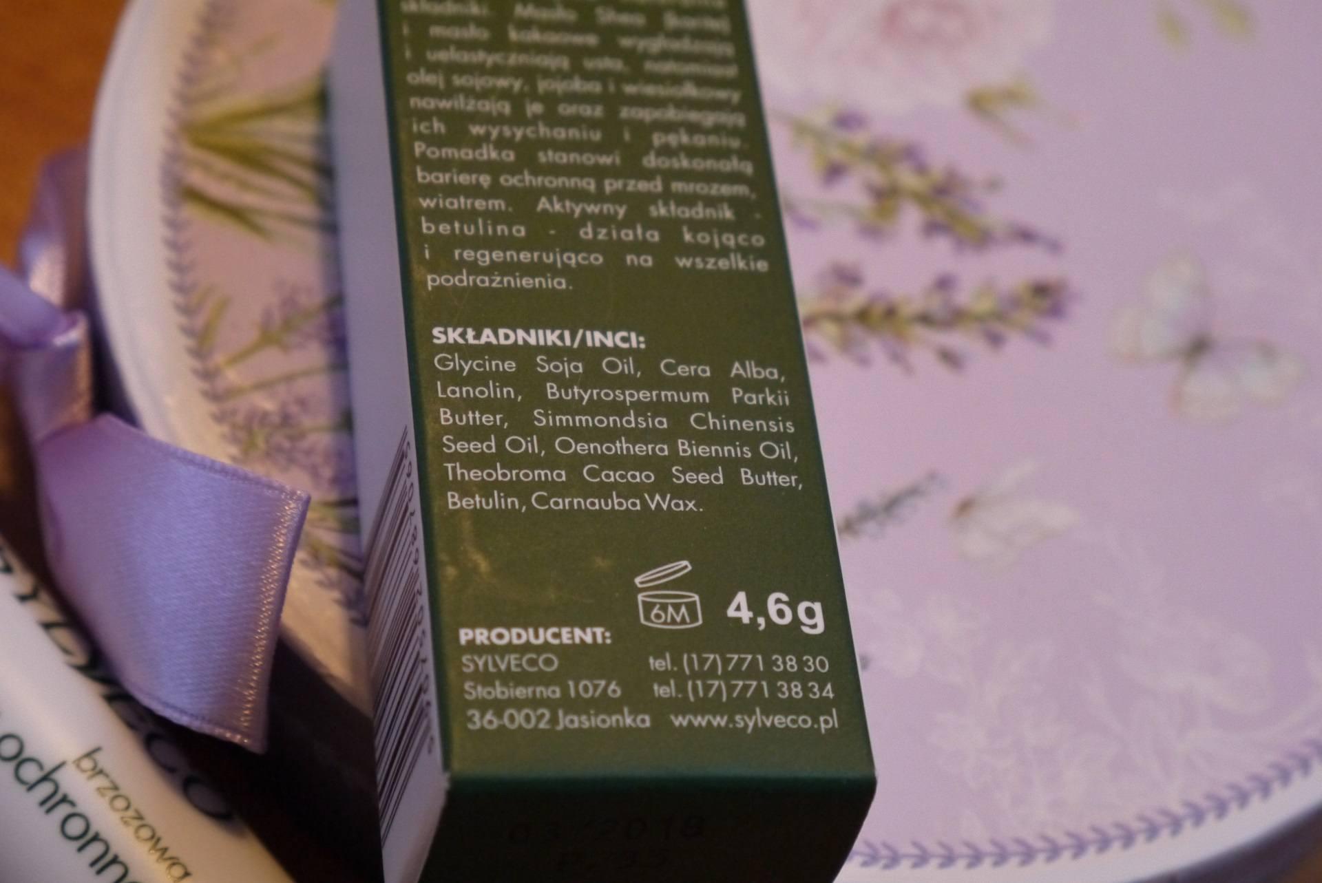 Pomadka z betuliną Sylveco skład